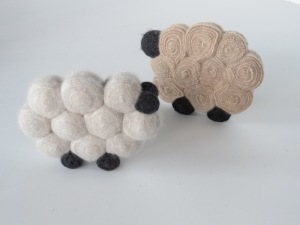 Standing wool (actually cashmere) sheep were a hit at the festival.