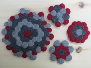 Made some coasters, too.  But they are soooo symmetrical. Something for everyone, right?