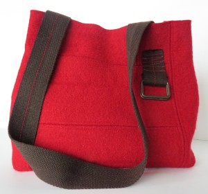 A lovely red felted merino...so soft and a great bold color for a grey  winter ahead.