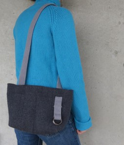 All model shots now being taken in wool sweaters. Soon, the modeling will move indoors. It was in the 30s this morning.