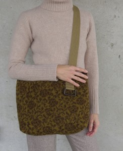 A nice large size, with plenty of strap.  https://www.etsy.com/listing/210414159/handbag-felted-wool-cinnamon-mustard