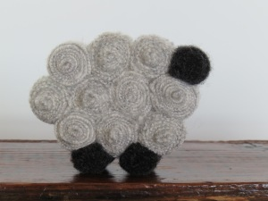 "This is the smallest cutie, measuring only 2 3/4"" long. They are made with cashmere and wool."