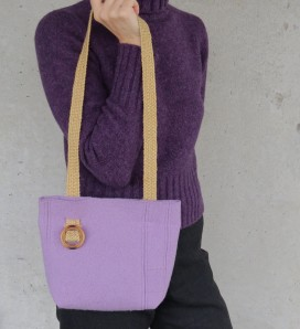 Lovely lavender. https://www.etsy.com/listing/210665809/purse-felted-merino-lavender-small-lined