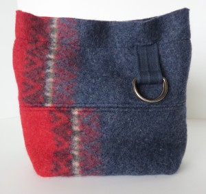 I'll end with this classy bag. A sweater turned on its side. Lined in green with a blue/white check pocket. https://www.etsy.com/listing/211675020/purse-felted-wool-blue-red-recycled?ref=listing-shop-header-3