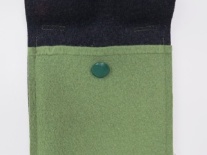 This one is felted merino wool, with a vintage button from who-know-where.