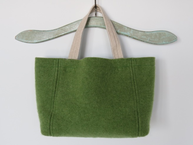 This is a shorty. Felted lambswool in green apple.