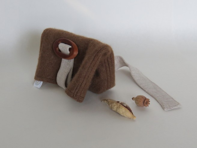 linen sash with wooden slide buckle