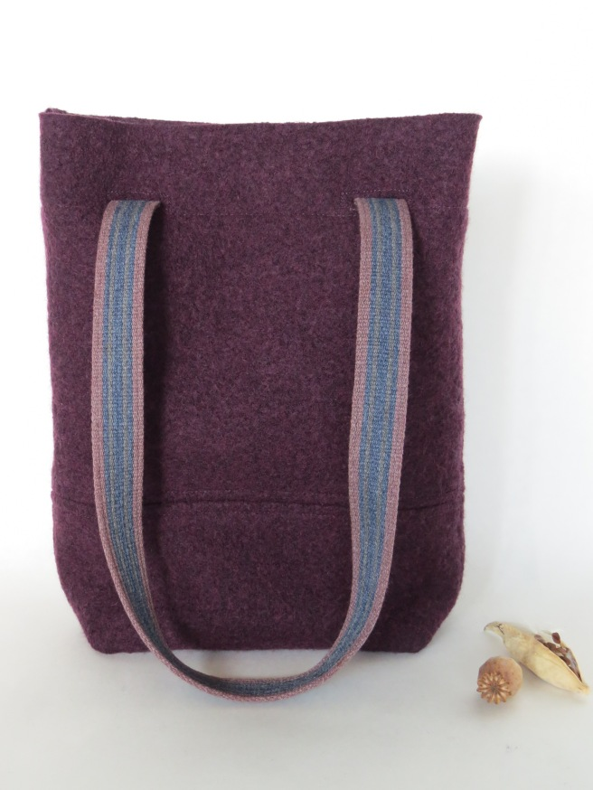 and a felted merino bag