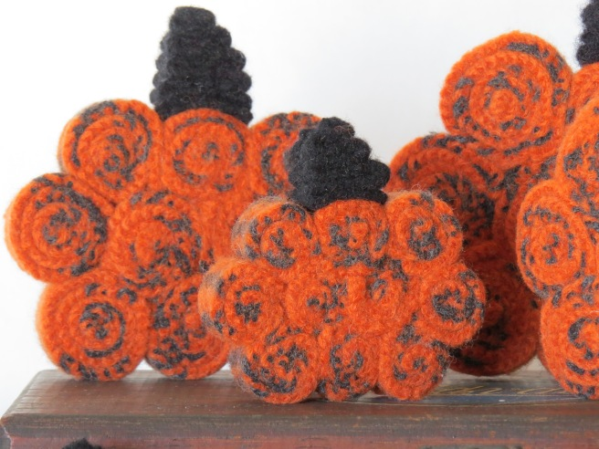They are little standing wool pumpkins.